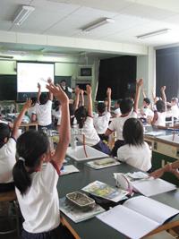 浜松市立気賀小学校 出前授業の様子