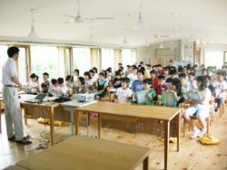 浜松市立北庄内小学校 環境学習の授業の様子