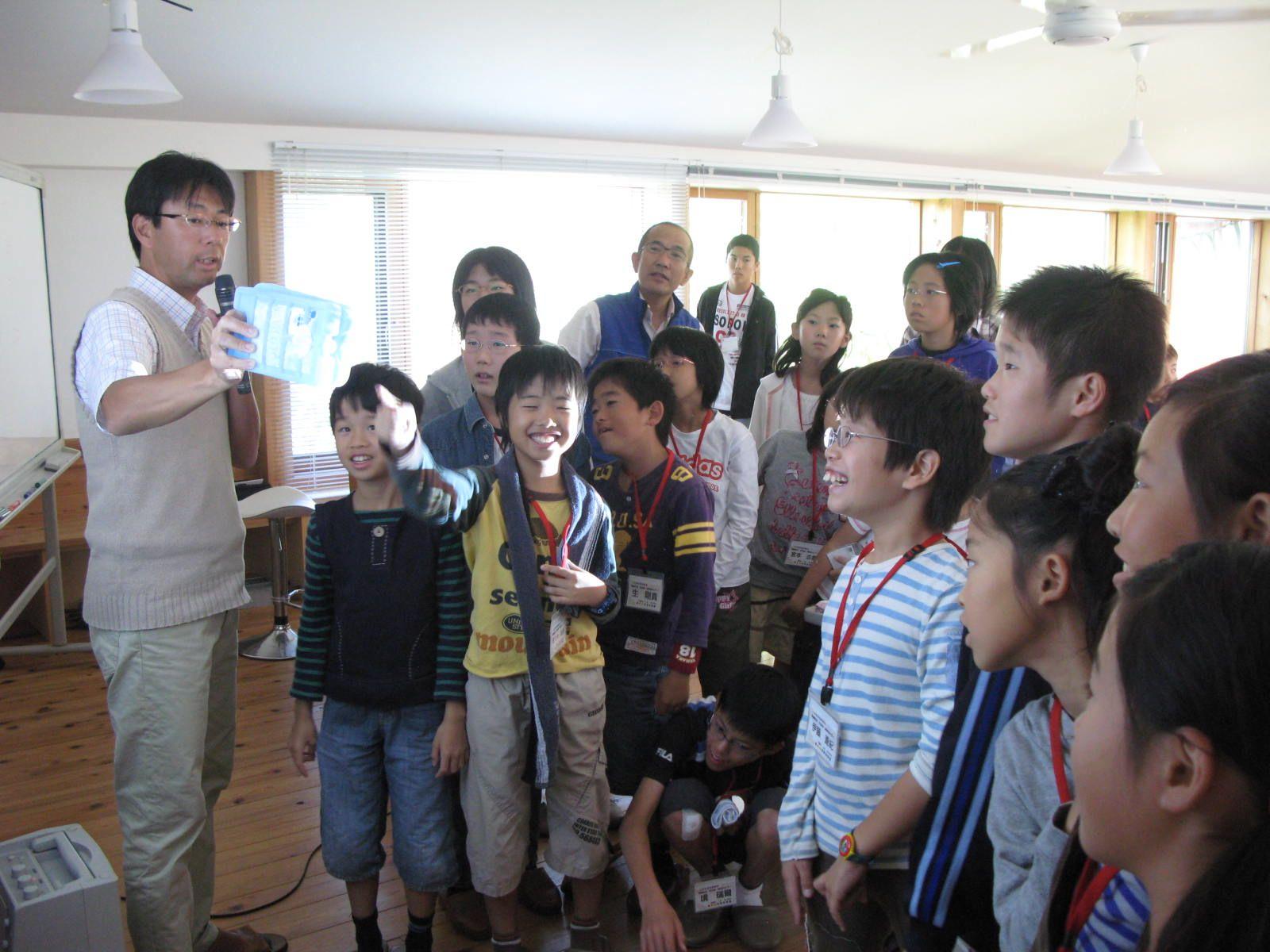 子どもたちから歓声があがりました。